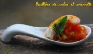 Cuillères de Salsa et Crevette