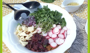 Salade de quinoa à l'oseille et radis