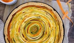 Tarte spirale carottes et courgettes