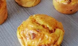 Muffins carottes, bacon et feta