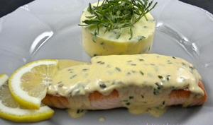 Pavés de saumon à la sauce moutarde