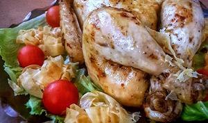 Poulet farci au foie de volaille cuit à la vapeur