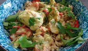 Blanquette créole de homard