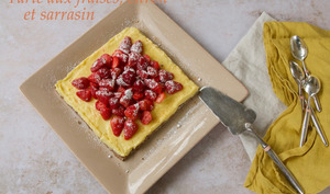 Tarte citron et fruits rouges au sarrasin