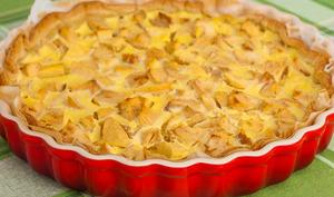 Tarte alsacienne aux pommes à la crème prise