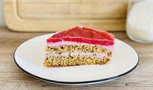 Gâteau mousse framboise-coco
