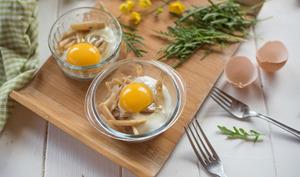 Œuf cocotte aux asperges blanches