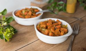 Poêlée de carottes, curry et moutarde