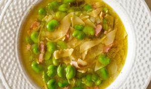 Soupe de fèves et maltagliati