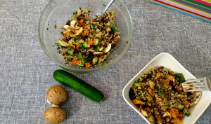 Salade de quinoa et patates douces rôties