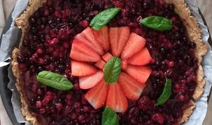 Tarte aux fruits rouges et flocons d'avoine