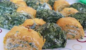 Roulé de carottes ou épinards au fromage frais