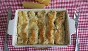 Cannellonis au saumon et champignons