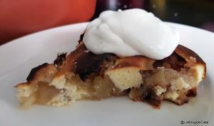 Gâteau aux pommes, farine de coco et mascarpone