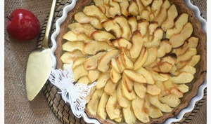 Tarte aux pommes au sarrasin