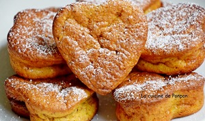 Muffin mangue, noisette et son coeur caramel au beurre salé
