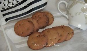 Galettes bretonnes au sarrazin et pépites de chocolat