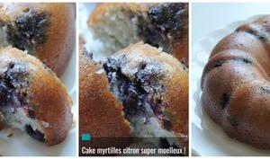 Cake Myrtilles Citron