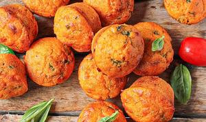 Mini muffins tomate basilic