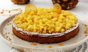 Tarte amandine ananas et caramel