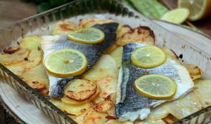 Filets de daurade au citron confit et pommes de terre