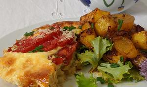 Gratin de poulet à la crème et tomate