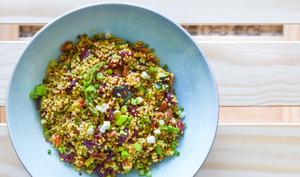 Salade de quinoa, asperge, courgette à la Canadienne