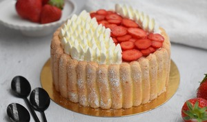 Charlotte fraises et vanille