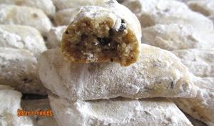 Bâtonnets sablés aux noix et fèves de cacao