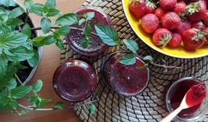 Confiture de fraises et menthe poivrée