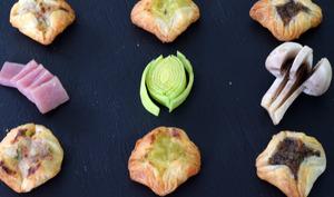 Feuilletés apéritif au vert de poireaux