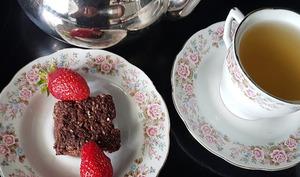 Carrés aux flocons de sarrasin et chocolat noir