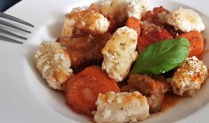 Gnocchi à la farine d'amandes et mozzarella