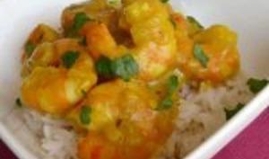 Curry de Crevette au Curcuma et Banane