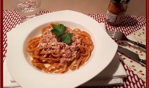 Fettuccine au piment d'Espelette et jambon cru