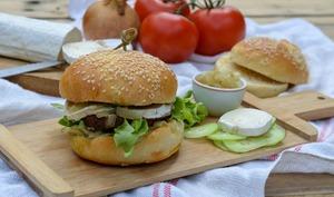 Burger végétarien au chèvre