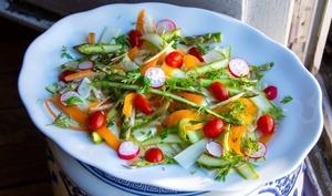 Salade d'asperges vertes et fenouil