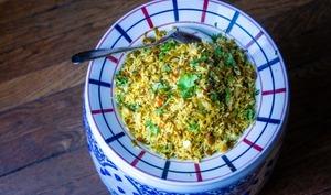 Chou épicé au riz