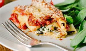 Cannelloni ricotta, épinards et tomate