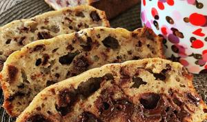 Le banana bread au chocolat