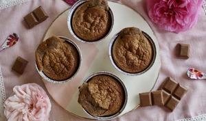 Muffins praliné coeur fondant