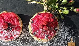 Tartelettes Poppy Fraises Yuzu