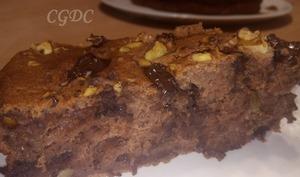 Gâteau aux bananes chocolat noix et mascarpone