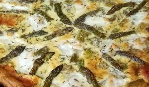 Tarte aux asperges vertes mozzarella et parmesan