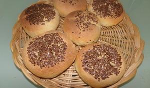 Petits pains de maïs aux graines de lin