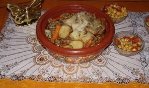 Ailerons de dinde tutti-légumes en tajine