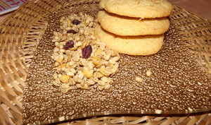 Rouleau de cookies aux flocons d'avoine et cranberries