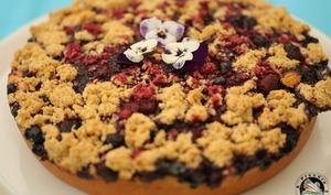 Gâteau crumble aux fruits rouges
