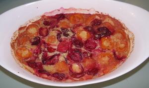 Clafoutis aux abricots et aux prunes