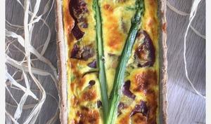 Tarte au sarrasin et aux asperges vertes
